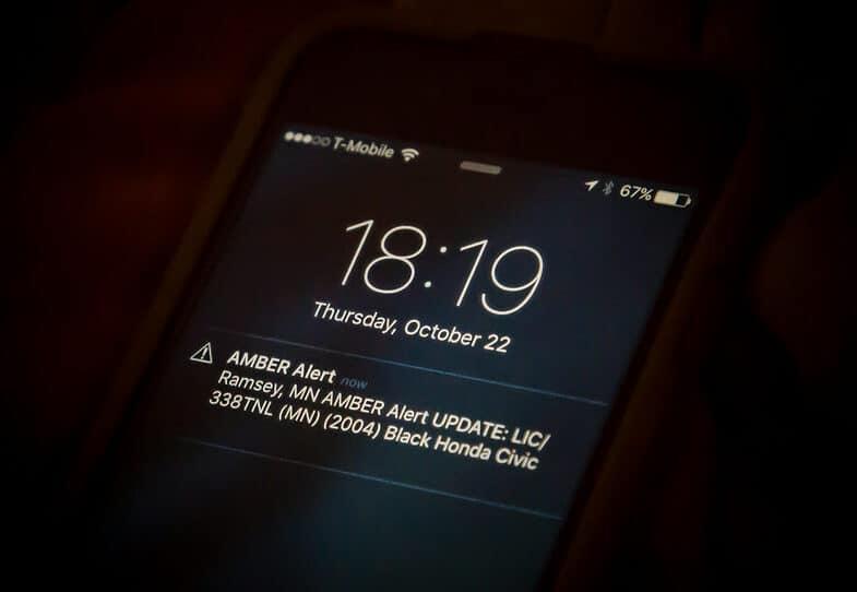 Wireless Alert - Amber Alert